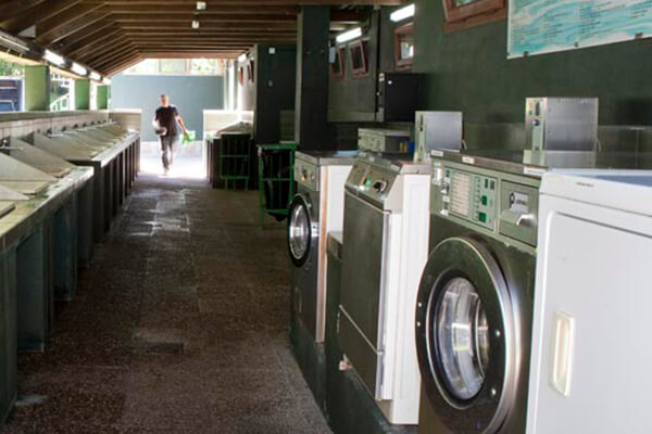 Laundry area with large-capacity washers and dryers